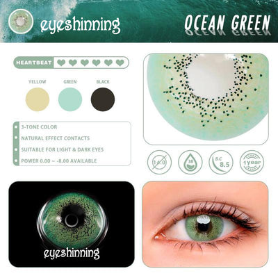 Eyeshinning Ocean Green Colored Contact Lenses