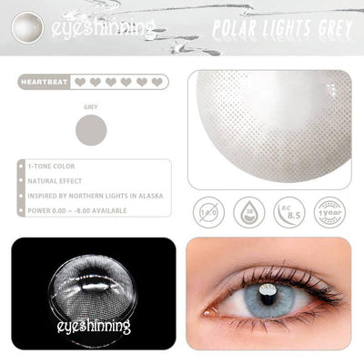Eyeshinning Polar Lights Grey Colored Contact Lenses