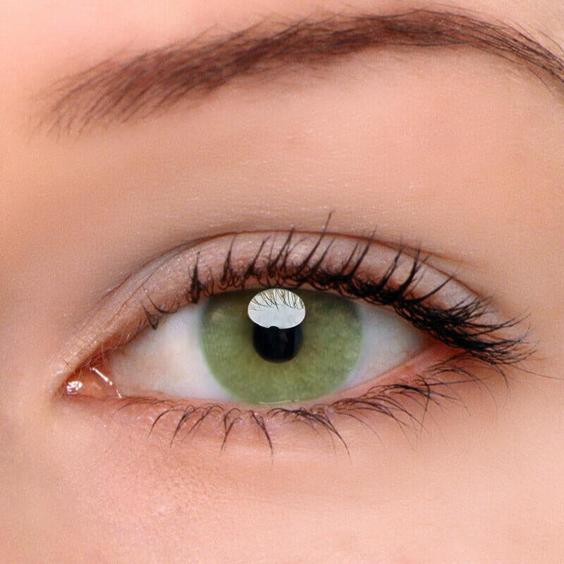 Eyeshinning Polar Lights Yellow-Green Colored Contact Lenses