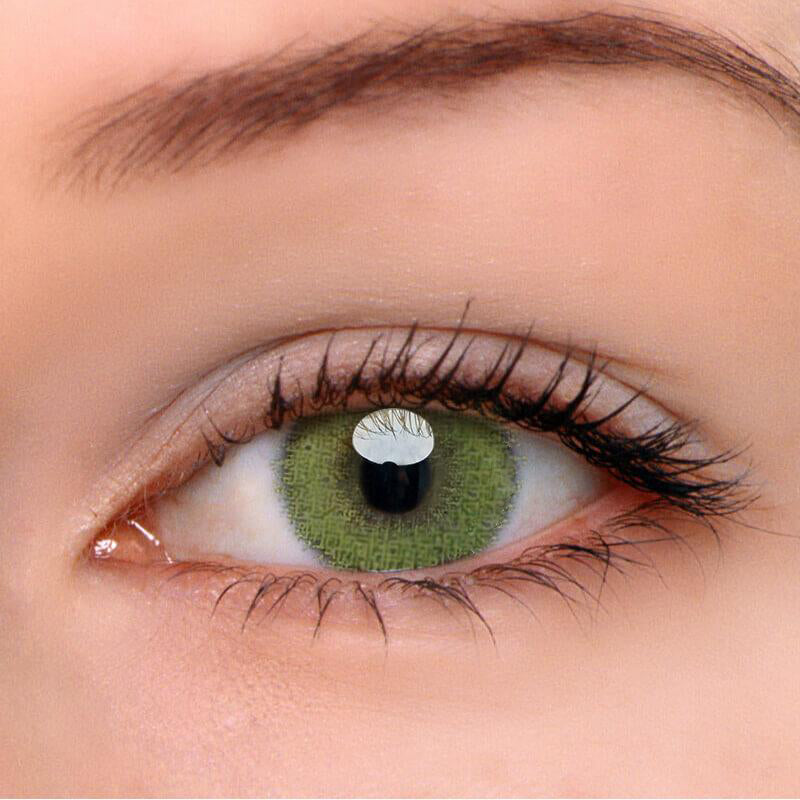 Eyeshinning Super Natural Yellow-Green Colored Contact Lenses