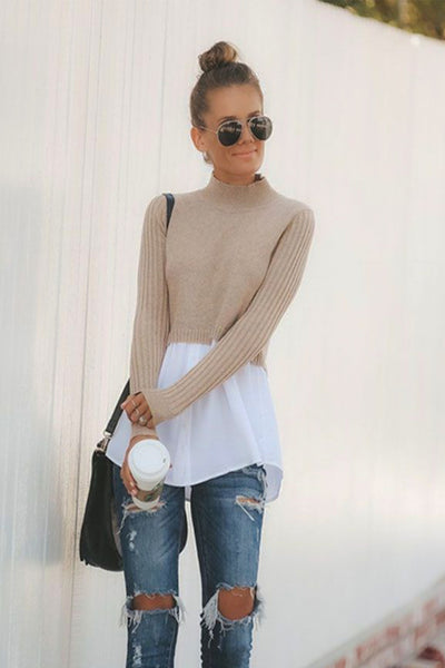 Half Button Long Sleeve Sweater - RODORA