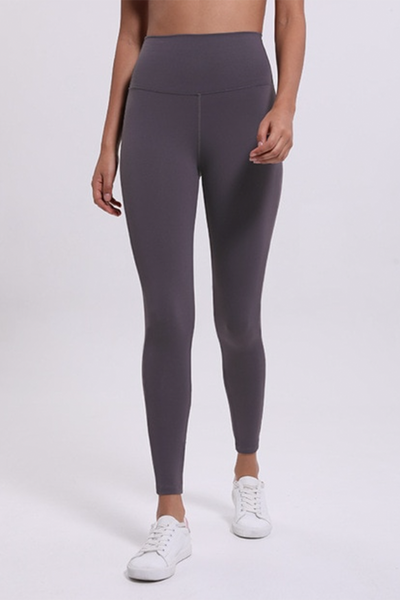 High Rise Ultra Classic Leggings - Mauve Grey - RODORA