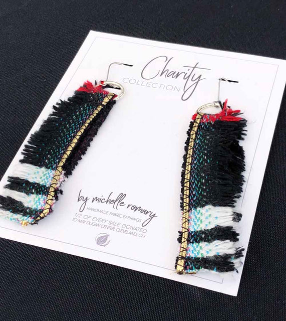 Handmade Charity Collection Earrings on Display Card