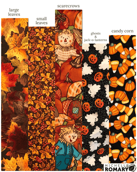 Cotton Face Mask Halloween and Harvest Fabric Options