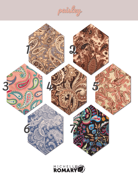 Cotton Face Mask Paisley Fabric Options