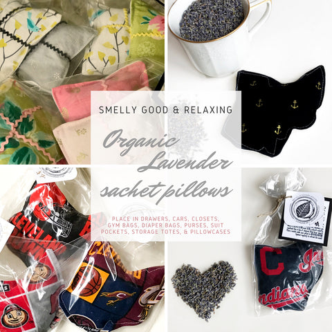 Organic Lavender Sachet Pillows