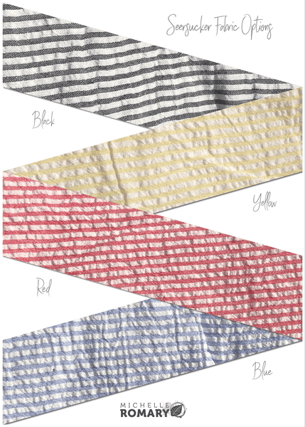 Cotton Face Mask Seersucker Fabric Options