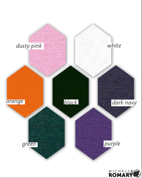Cotton Face Mask Solid Color Fabric Options