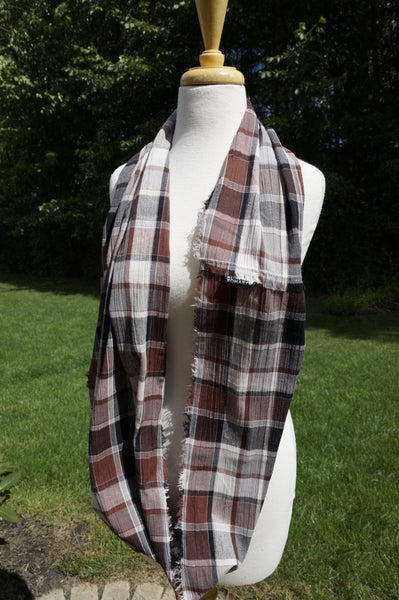 Lightweight Plaid Scarf - Multiple Colors