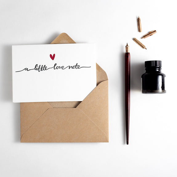 A Little Love Note Letterpress Card