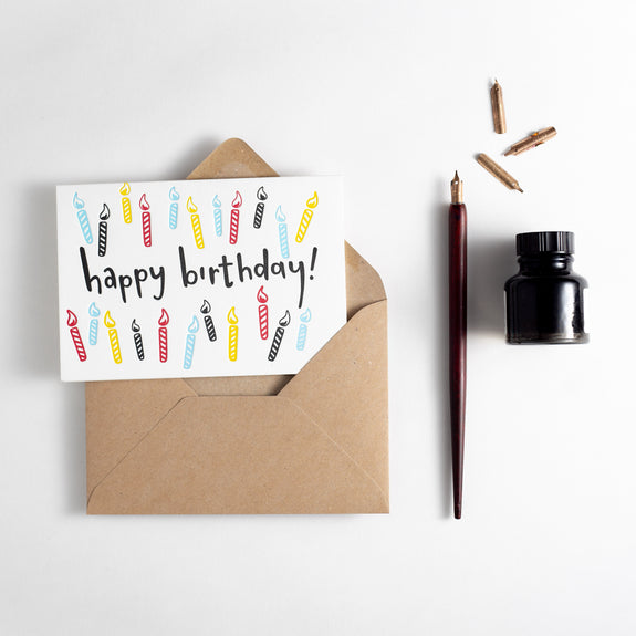 Birthday Candles Letterpress Card