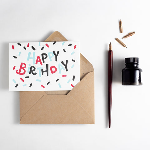 Birthday Confetti Letterpress Card