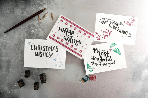 Most Wonderful Multipack of Letterpress Christmas Cards