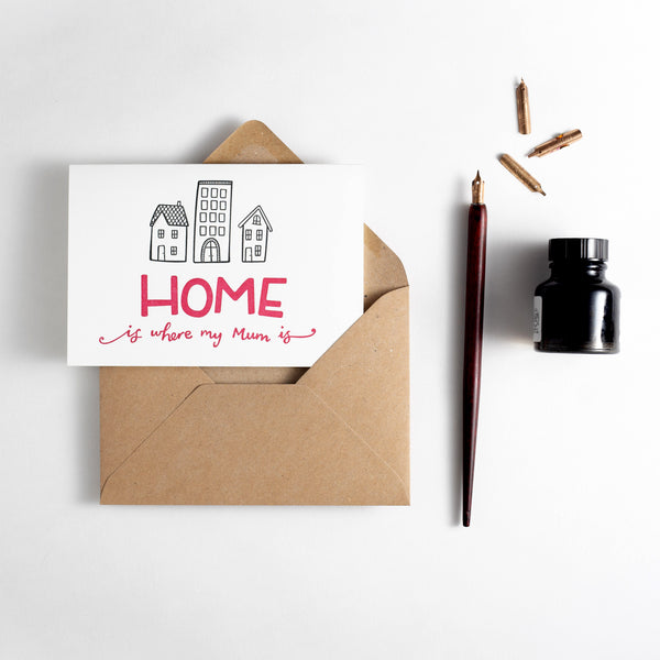 Home Is Where My Mum Is Letterpress Card