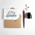To My Lovely Grandfather Letterpress Card