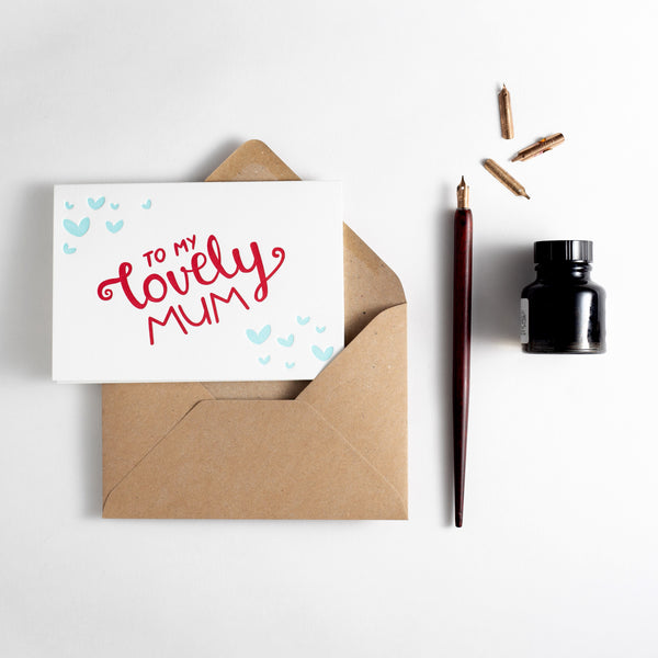 To My Lovely Mum Letterpress Card