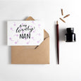 To My Lovely Nanny Letterpress Card