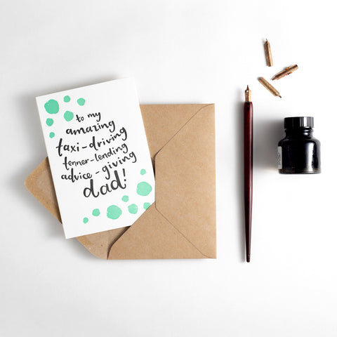 Amazing Multi-Tasking Dad Letterpress Card