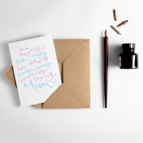 Multi-Tasking Mum Letterpress Card
