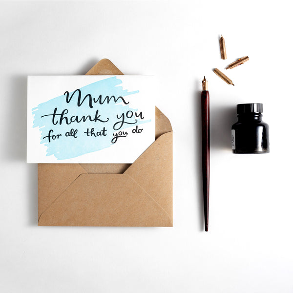 Mum Thank You For All That You Do Letterpress Card