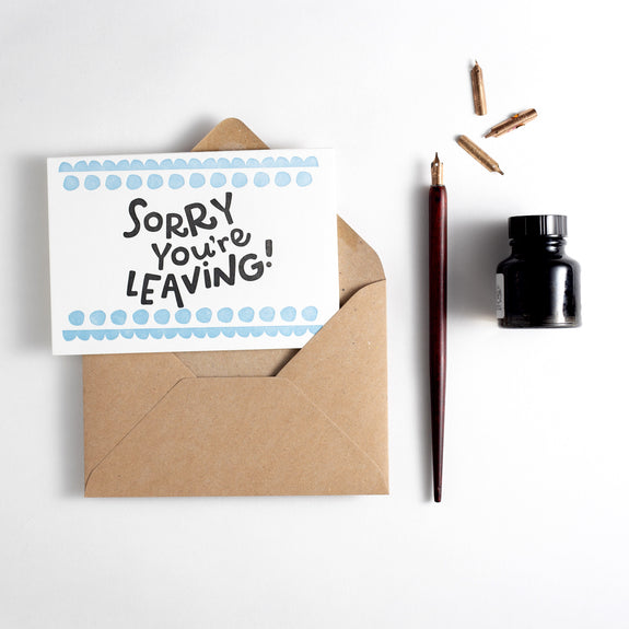 Sorry You're Leaving Letterpress Card