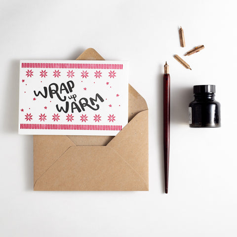 Wrap Up Warm Letterpress Card