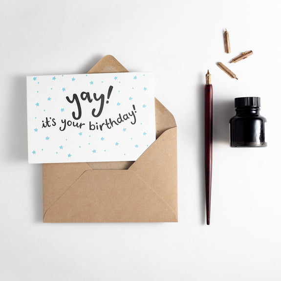 Yay! It's Your Birthday Letterpress Card