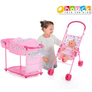 Load image into Gallery viewer, Play & Go Doll Stroller & Care Set