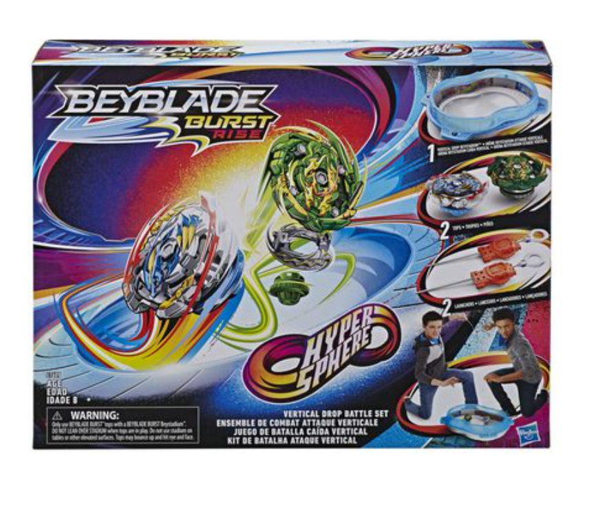 Load image into Gallery viewer, Beyblade Burst Rise Hypersphere Vertical Drop Battle Set