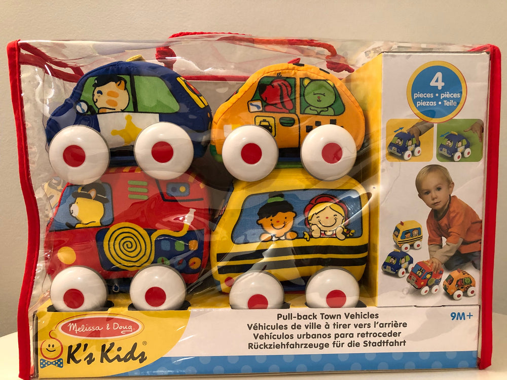Melissa & Doug's K's Kids Pull Back Vehicle Set