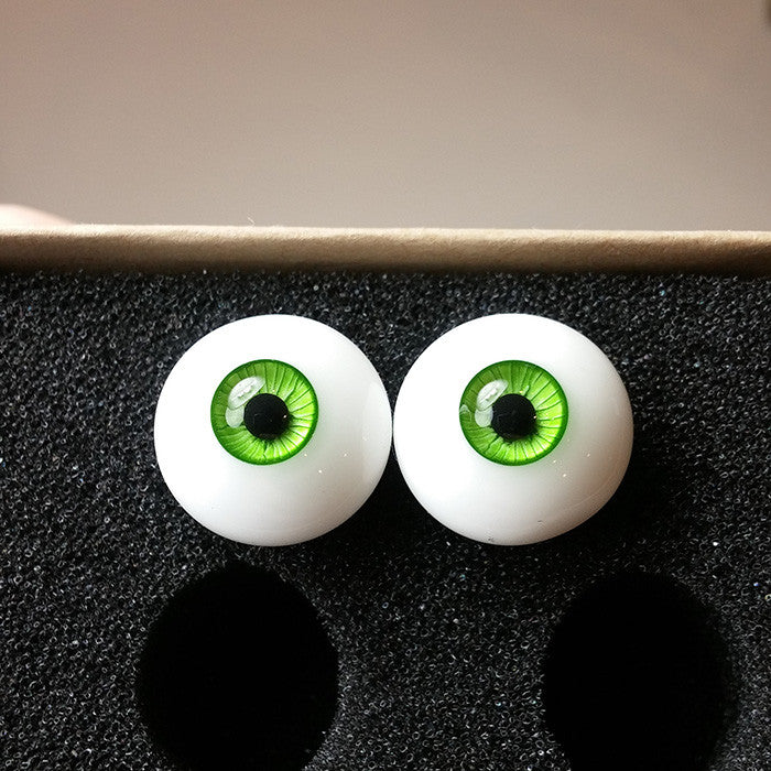 green urethane eyes