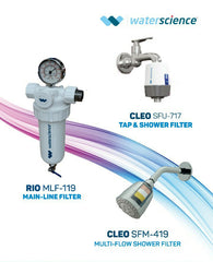 COMBO 1 RIO Mainline Filter +CLEO Multi Flow Shower filter +CLEO Shower and Tap Filter