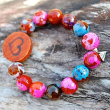 Load image into Gallery viewer, Valentine Agate Bead Bracelet bracelet