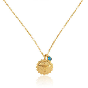 Throat Chakra, Vishudha- Apatite Charm (Communication:Listening:Compassion) Sterling Silver Gold vermeil