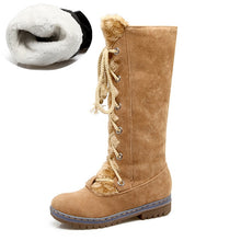 Load image into Gallery viewer, KARINLUNA Women's Winter Lace-up Fur Boots