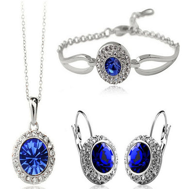 Shimmering Oval Jewelry Sets