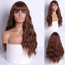 Load image into Gallery viewer, MERISI HAIR Long Water Wave Women Wigs with Bangs Red Blonde Black Heat Resistant Synthetic Wigs for Women African American