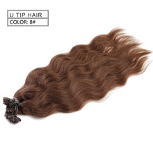 "Load image into Gallery viewer, Neitsi Machine Made Remy Human Fusion Hair U Nail Tip Natural Wave Pred Bond Keratin Human Hair Extension 20"" 1g/s 18 Colors"