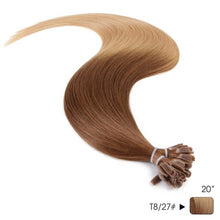 "Load image into Gallery viewer, Neitsi Straight Ombre Keratin Human Fusion Hair Machine Made Remy Nail U Tip Capsule Human Hair Extension 20"" 1g/s 50g 100g 150g"
