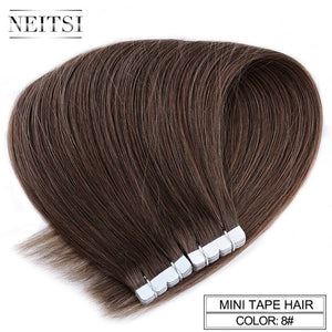 Neitsi Mini Tape In Non-Remy Human Hair Adhesive Extension