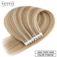 Load image into Gallery viewer, Neitsi Mini Tape In Non-Remy Human Hair Adhesive Extension