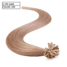 "Load image into Gallery viewer, Neitsi Straight Keratin Capsules Human Fusion Hair Nail U Tip Machine Made Remy Pre Bonded Hair Extension 16"" 20"" 24"" 28"""