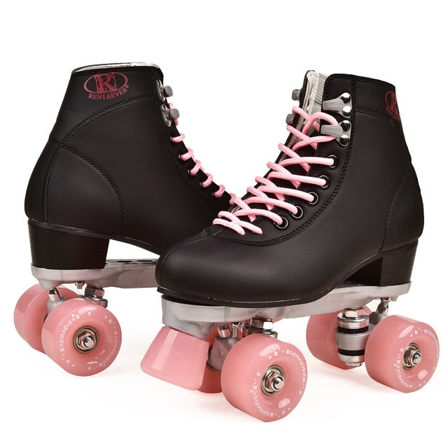Quad Lace-up Roller Skates in Four Colors
