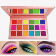 Load image into Gallery viewer, Summer Colorful Eyeshadow Palette Matte 18 Colors Shimmer Blendable Bright Eye Shadow Pallete Silky Powder Pigmented Makeup Kit
