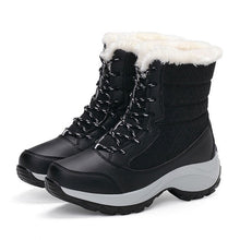 Load image into Gallery viewer, Women Boots Waterproof Winter Shoes Women Snow Boots Platform Keep Warm Ankle Winter Boots With Thick Fur Heels Botas Mujer 2019