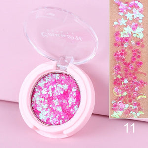 Shimmer Eye Glitter Eyeshadow Makeup Face Jewels Pigment Body Glitter Sequin Gel Cream Eyes Make Up Shiny Stickers Eye Shadow