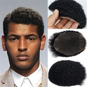 Men's Curly Afro Toupee