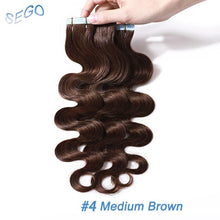 Load image into Gallery viewer, Tape-in Wavy Human Hair Extensions 12-24 inches