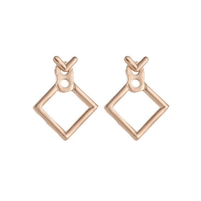 Trendy Cute Nickel Square Stud Earrings