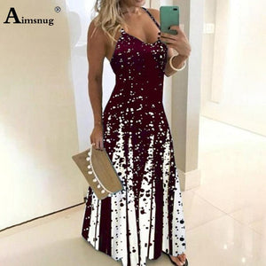 Plus Size 4xl 5xl 2020 Women's Dress Colors Summer Sexy Boho Print Bow Camis Befree Maxi Dress Casual Loose Dresses Robe Femme